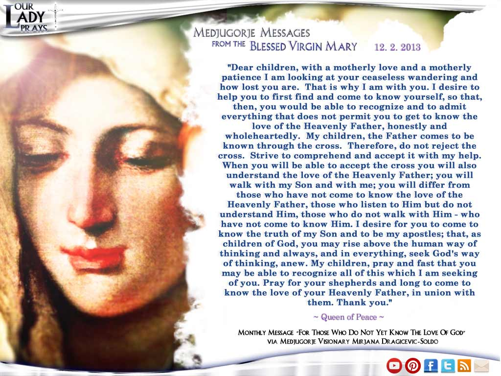 Medjugorje Message from the Blessed Virgin Mary December 2, 2013