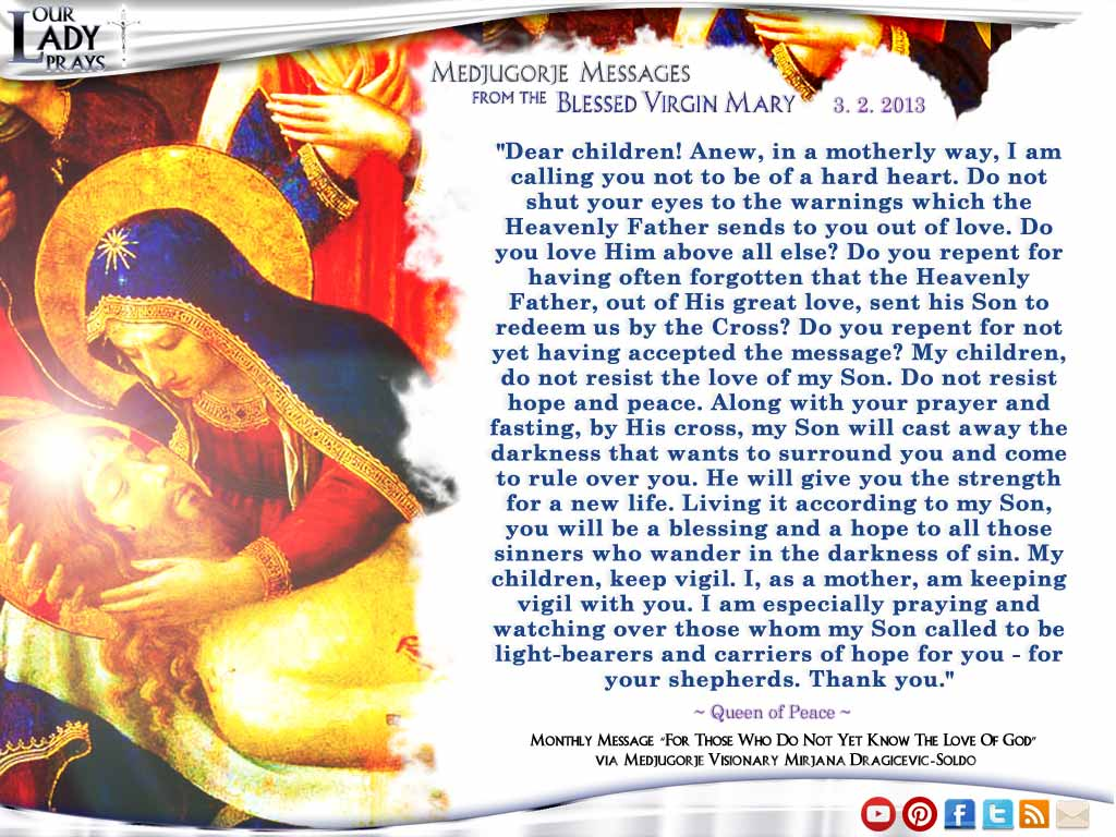 Medjugorje Message from the Blessed Virgin Mary March 2, 2013