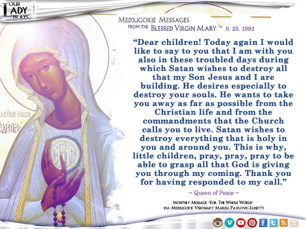 Our Lady Prays - Medjugorje Message from the Blessed ...