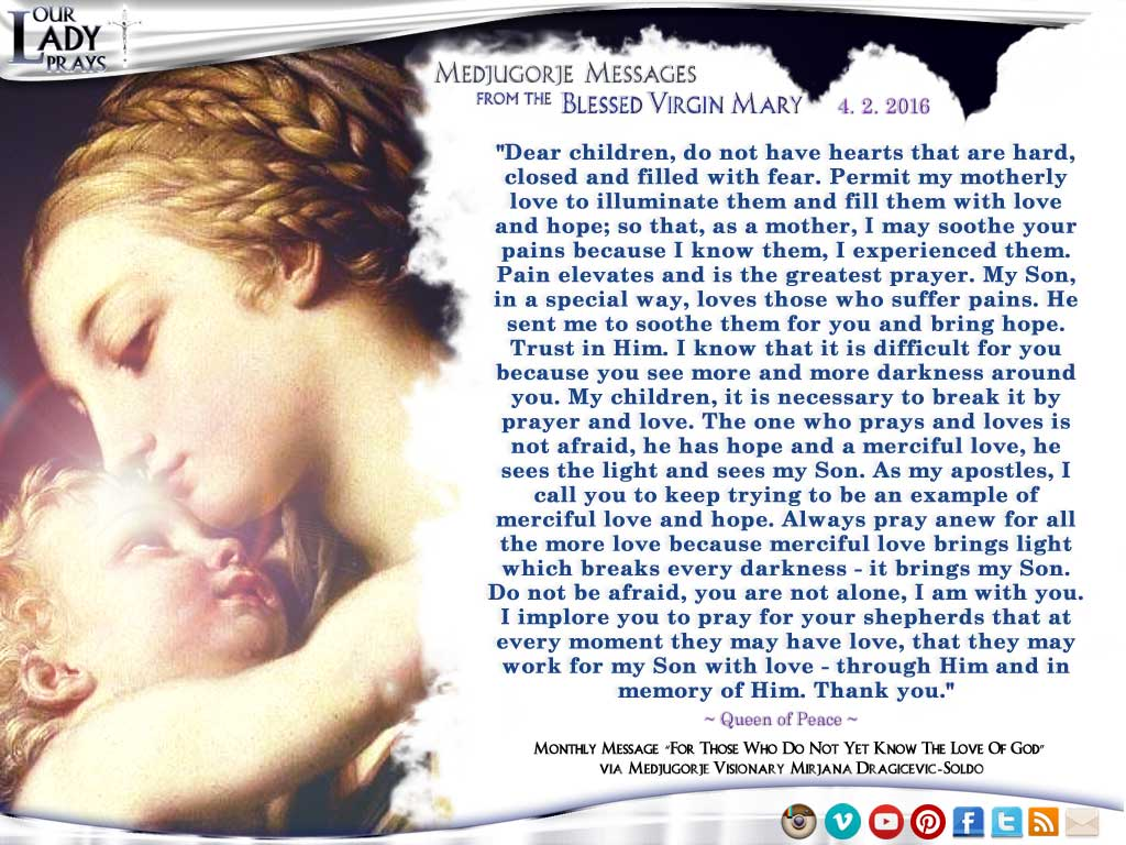 Medjugorje Message from the Blessed Virgin Mary, April 2, 2016