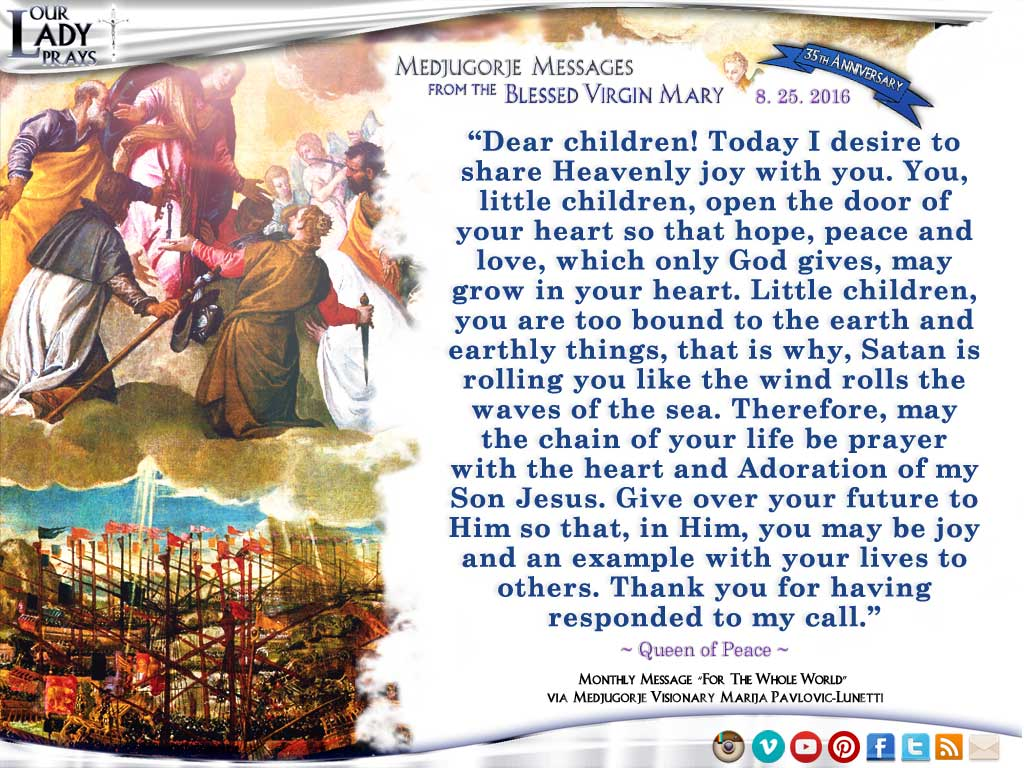 Medjugorje Message from the Blessed Virgin Mary 8.25.2026