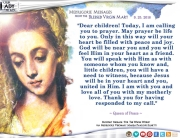 Medjugorje Message from the Blessed Virgin Mary, September 25, 2016