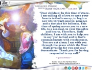 Medjugorje Message from the Blessed Virgin Mary, March 25, 2017