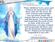 Medjugorje Message from the Blessed Virgin Mary, April 25, 2017