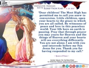 Medjugorje Message from the Blessed Virgin Mary, May 25, 2017
