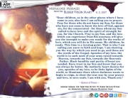 Medjugorje Message from the Blessed Virgin Mary, June 2, 2017