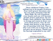 Medjugorje Message from the Blessed Virgin Mary, August 25, 2017