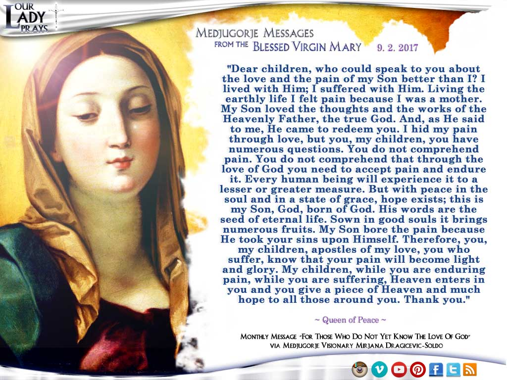 Medjugorje Message from the Blessed Virgin Mary, September 2, 2017