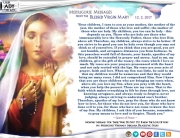 Medjugorje Message from the Blessed Virgin Mary, December 2, 2017