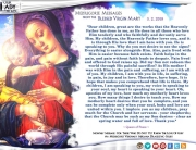 Medjugorje Message from the Blessed Virgin Mary, March 2, 2018