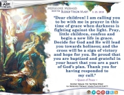 Medjugorje Message from the Blessed Virgin Mary, March 25, 2018