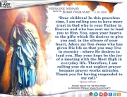 Medjugorje Message from the Blessed Virgin Mary, May 25, 2018